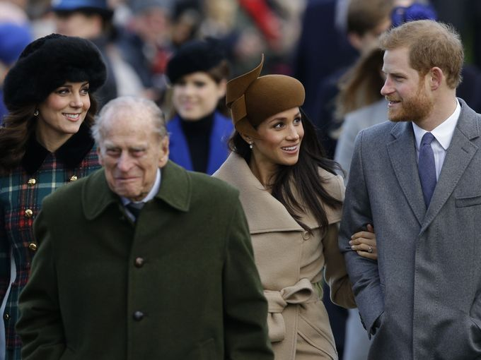 Meghan with the royal family