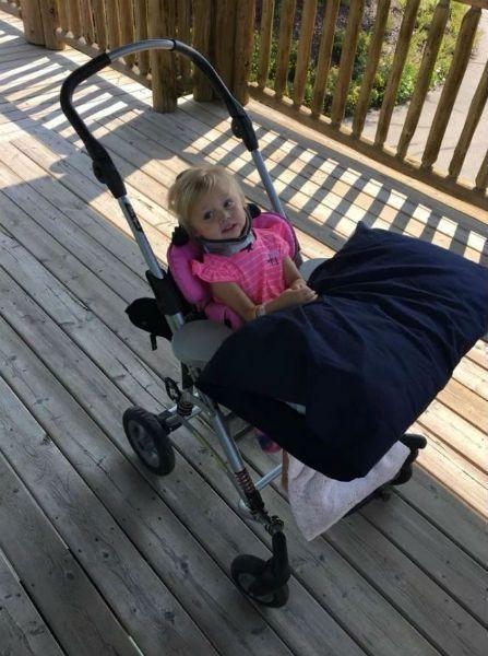 Paralyzed toddler