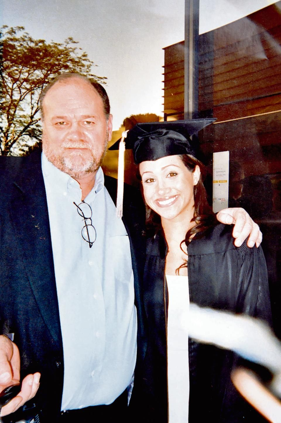 Thomas and Meghan Markle at her graduation