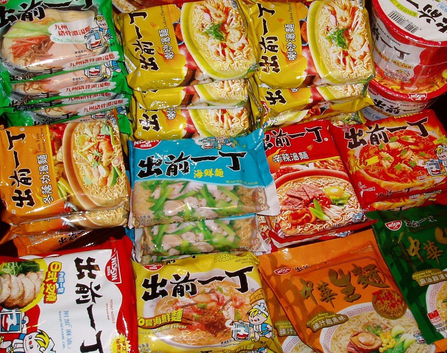 Ramen noodle packages