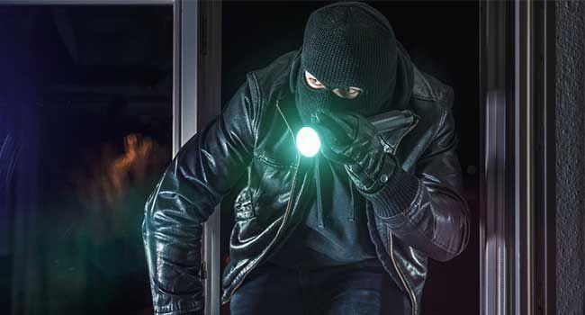 Burglar home