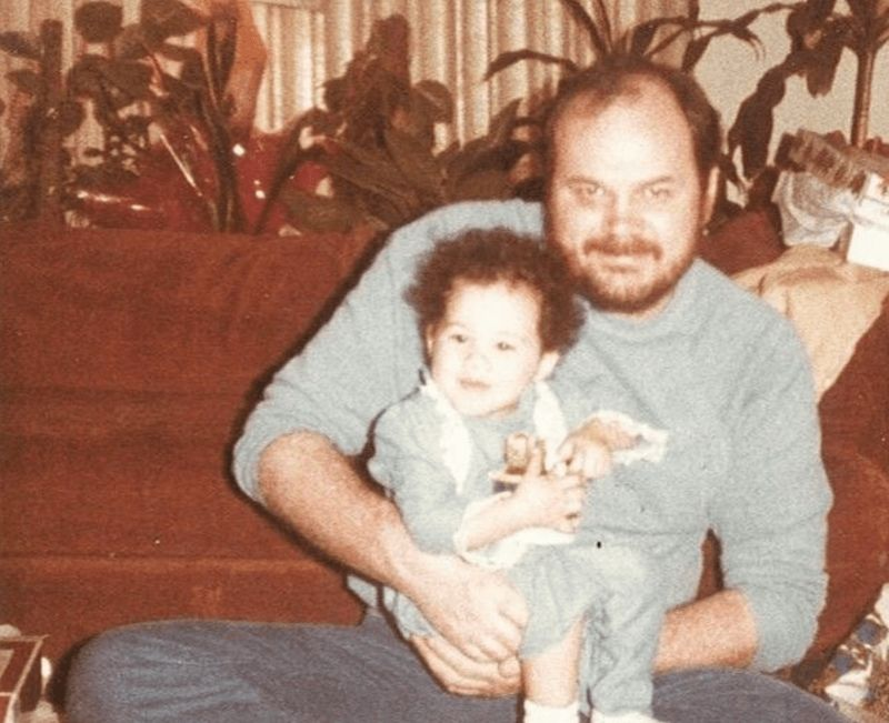 Thomas Markle with a baby Meghan