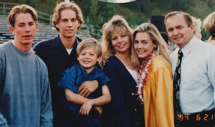 Paul Walker and his family