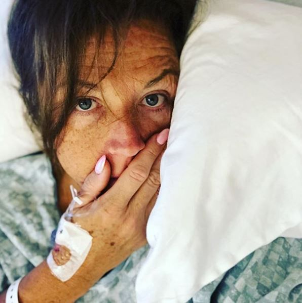 Abby Lee Miller in her hospital bed