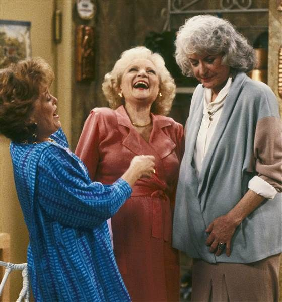 "Betty White in ""Golden Girls"""