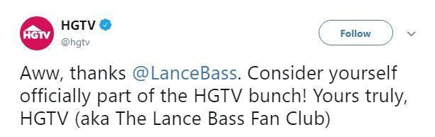 HGTV's tweet