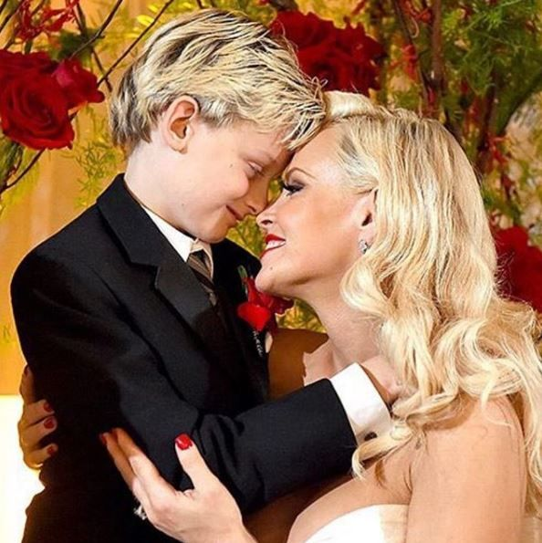 Jenny McCarthy and her son Evan Asher