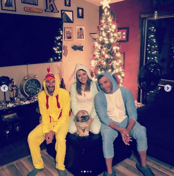 Johnny and the couple in onesies