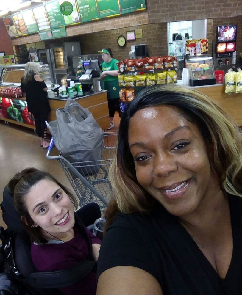 Angela Peters and Ebony Harris