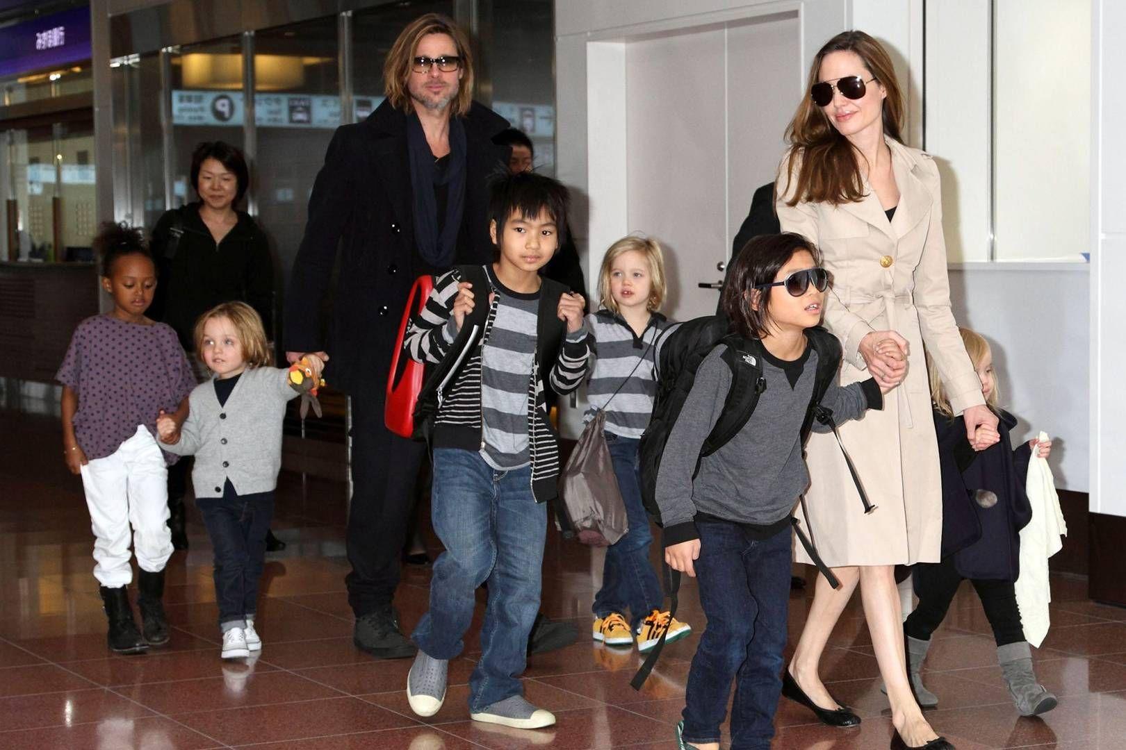 Brad, Angelina and the kids