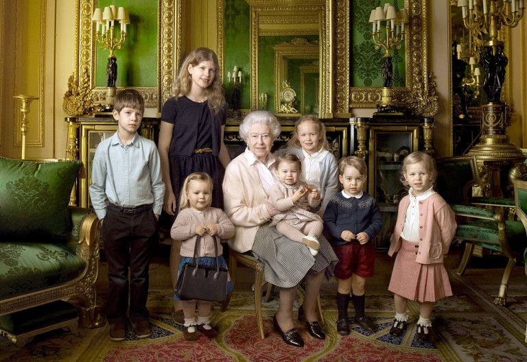 The Queen and her great-grandchildren and grandchildren
