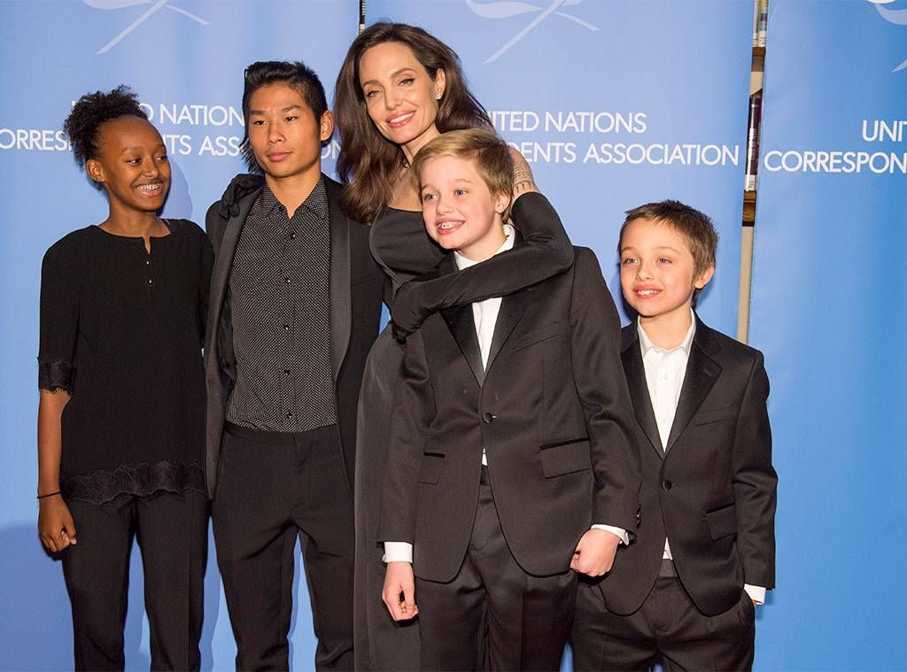 Angelina Jolie and some of the children