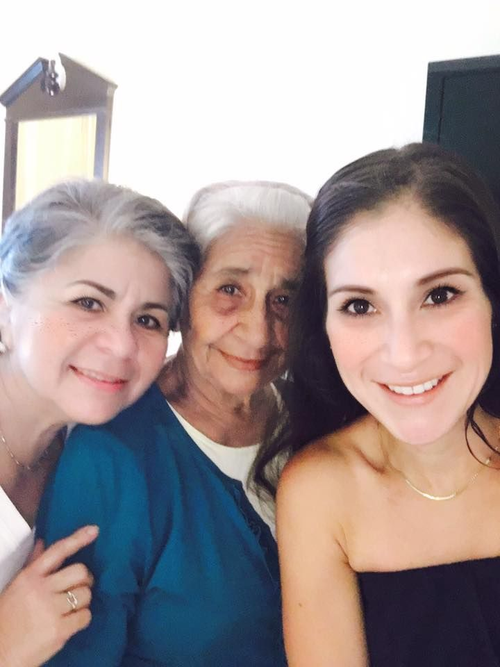 Wendy with her mother and grandmother