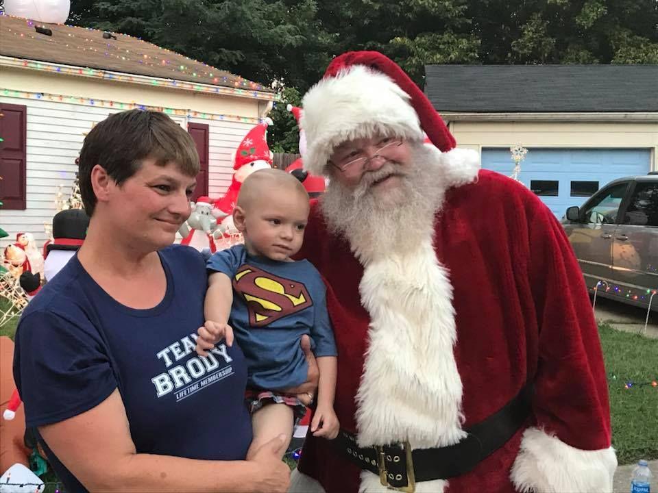 Brody and Santa