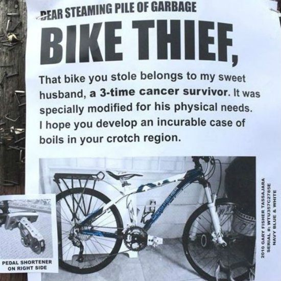Missing Bike Flyer