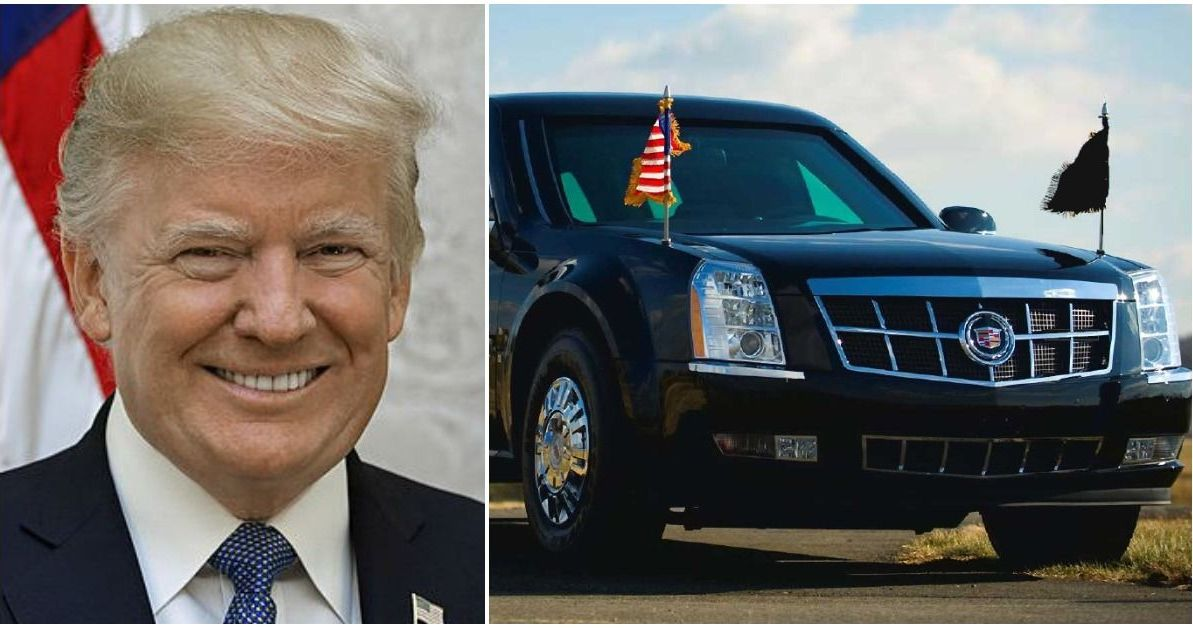 Trump riding in sleeker version of 'Beast' presidential limo