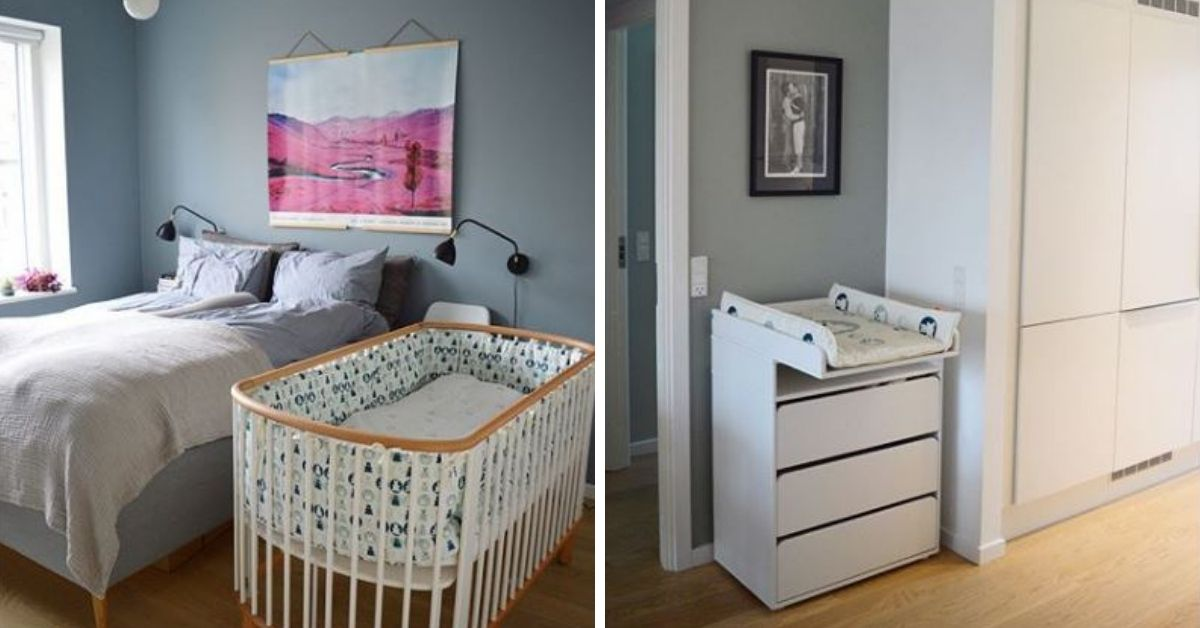 The new cot and change table.