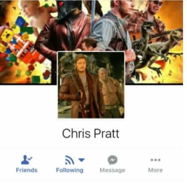 Fake Chris Pratt Account