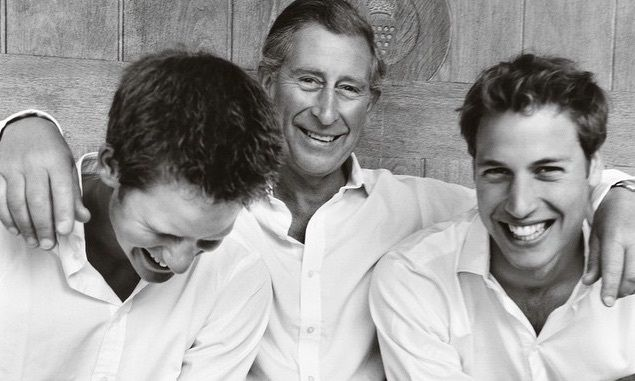 Prince Charles, Harry and William
