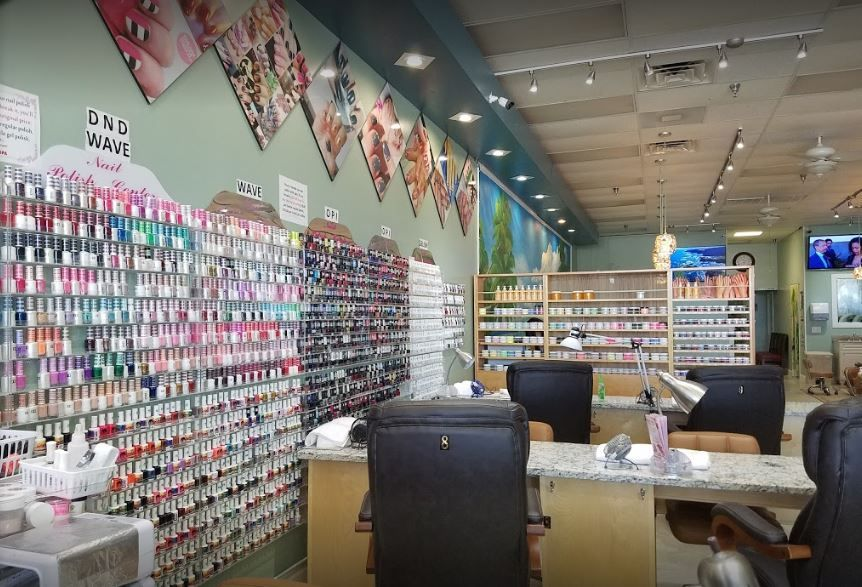 Inside the nail salon