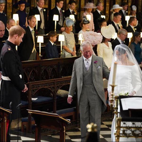 Prince Charles giving Meghan away at her wedding