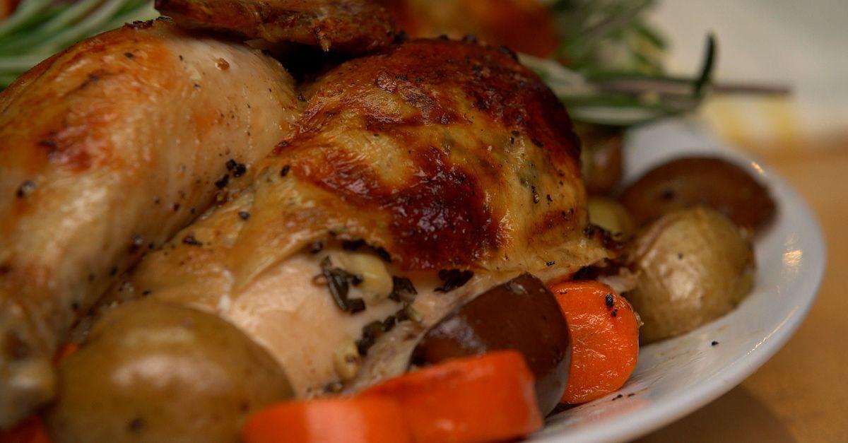This Roasted Rotisserie Style Bundt Pan Chicken Simplifies