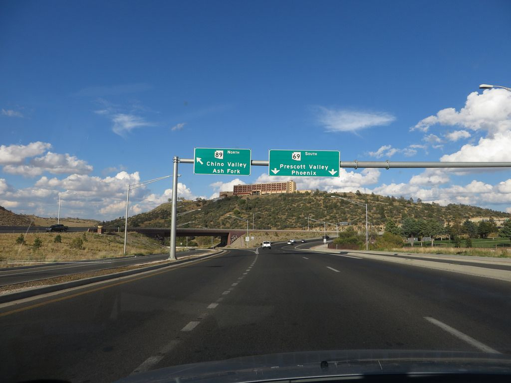 Junction of Arizona Route 69 and 89, Prescott, Arizona