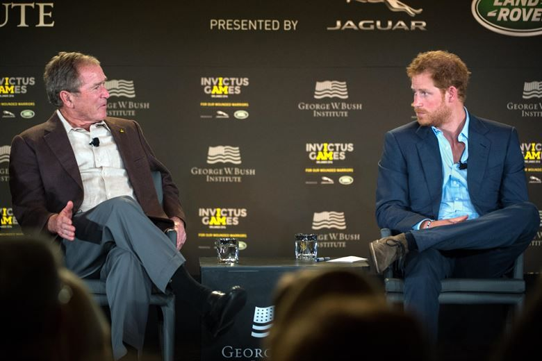 Prince Harry with former President George W. Bush