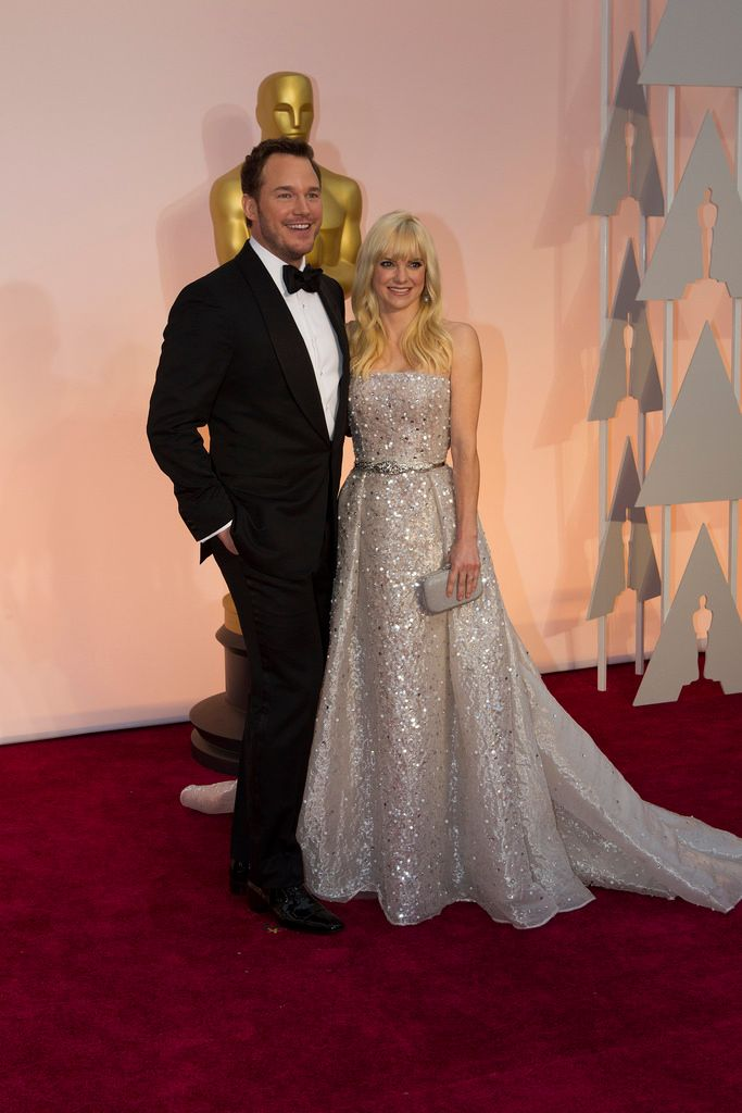 Chris Pratt and Anna Faris at the 2015 Oscars
