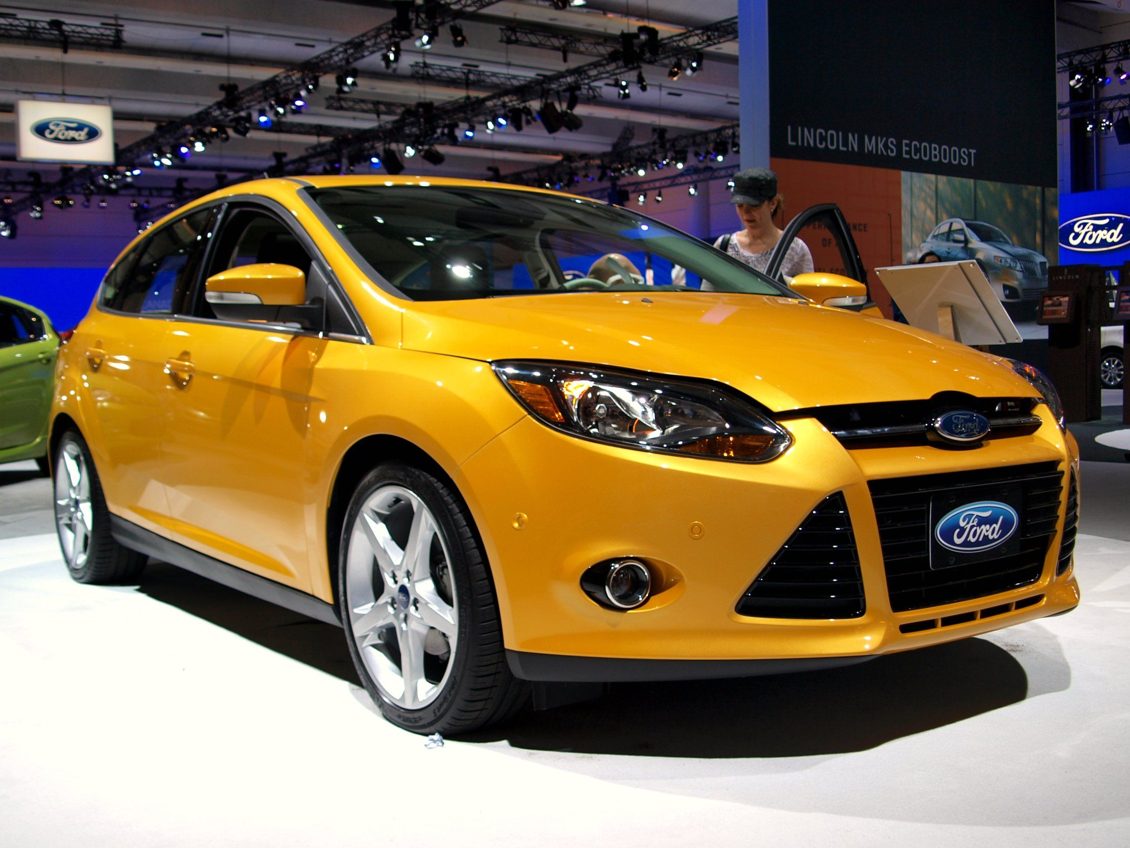 A Ford Focus in a show room