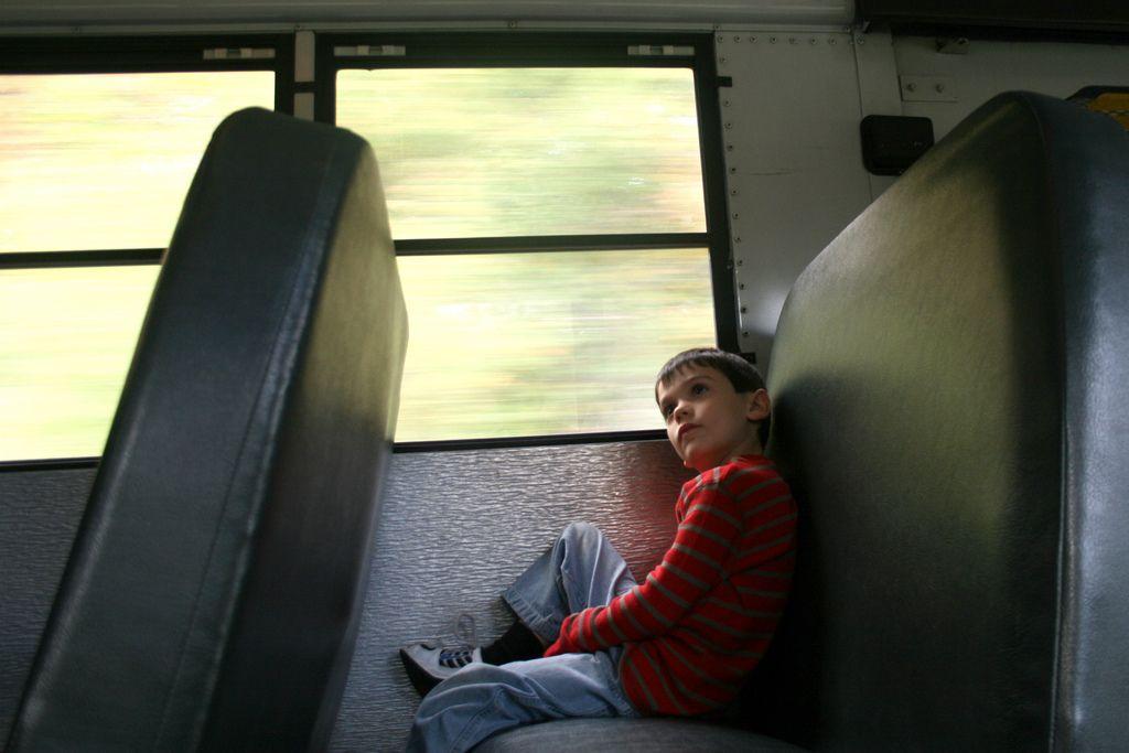 child on bus