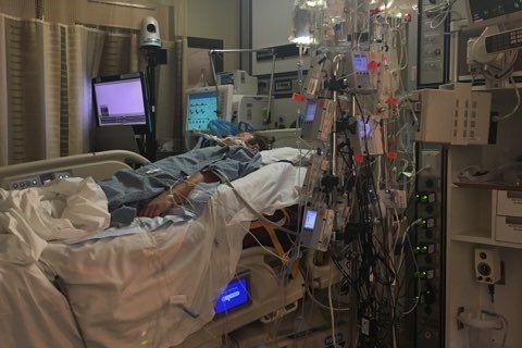 Andrew Goette in hospital