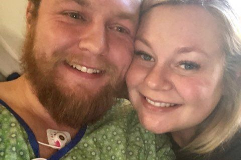 Andrew and Ashley Goette in hospital