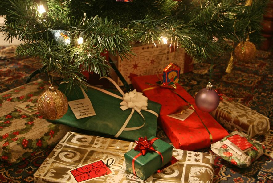 Presents under he Christmas tree