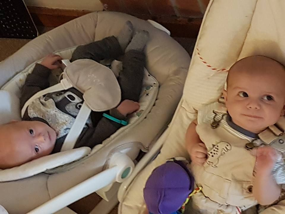 Ezra with his cousin Lachlan