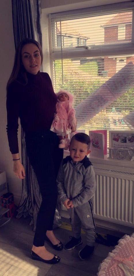 Ellie Webster and her children