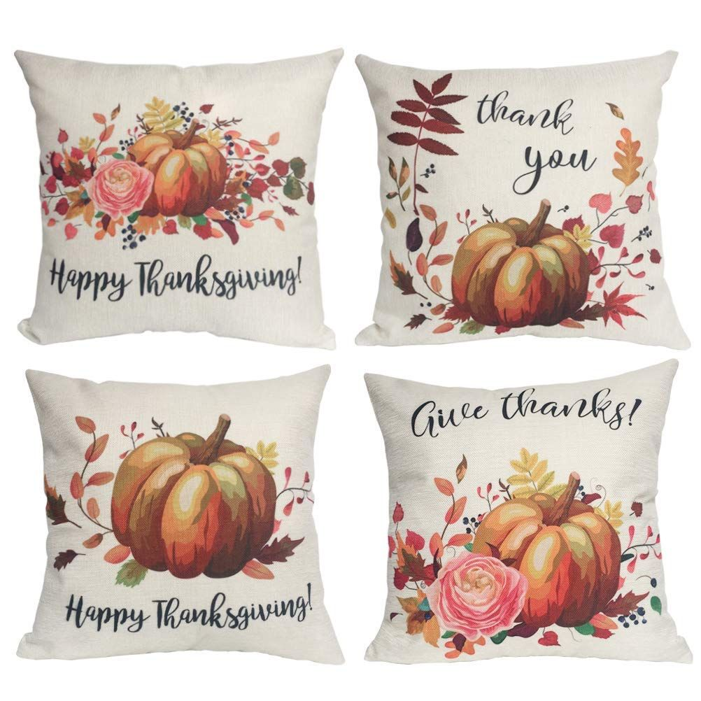 Happy Thanksgiving Pillow Covers