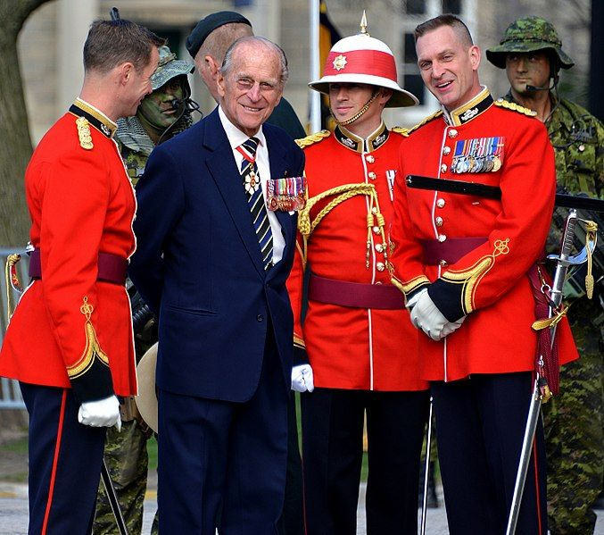 Prince Philip as Colonel-in-Chief of the Royal Canadian Regiment in Toronto.