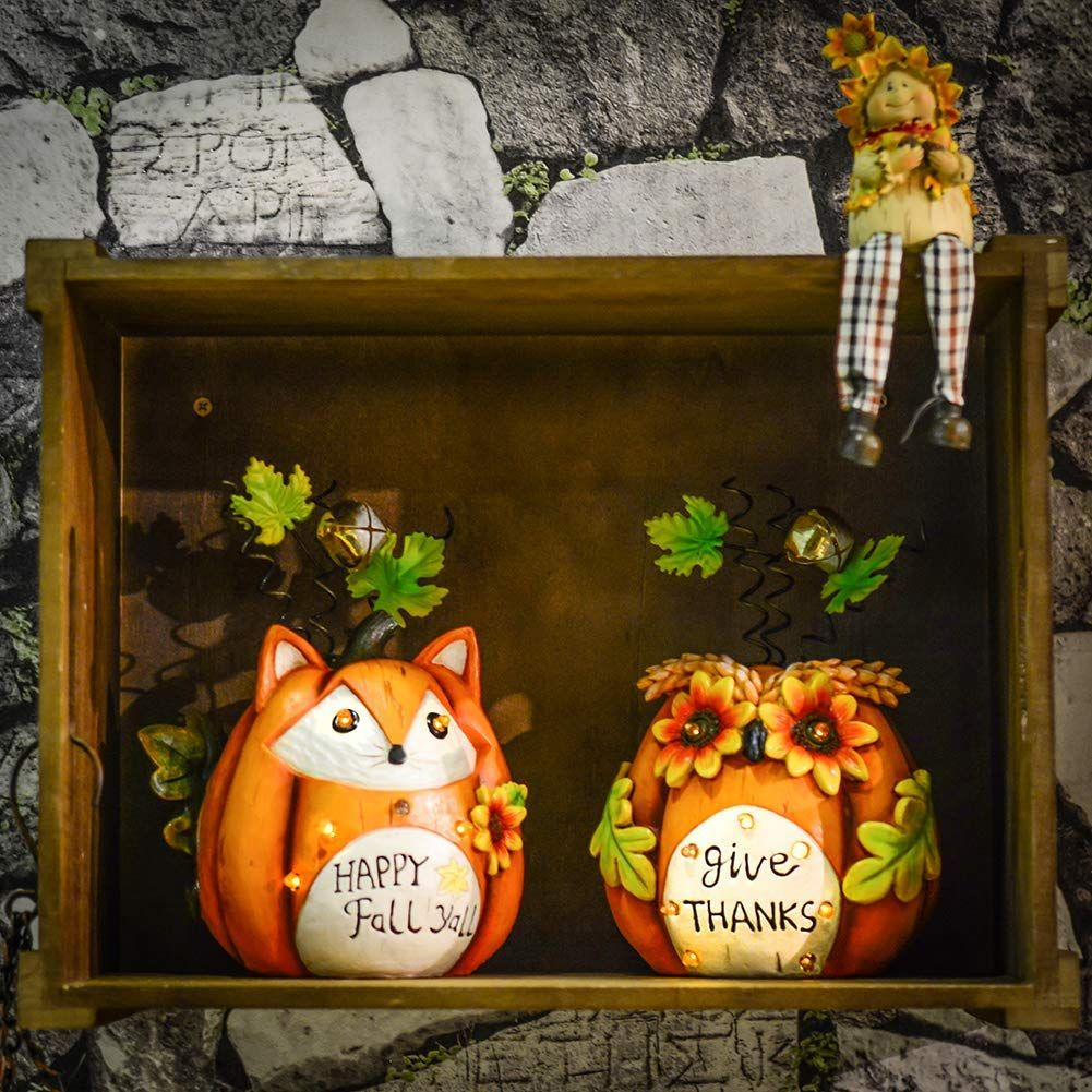 Solar Light Fox And Owl Decorations