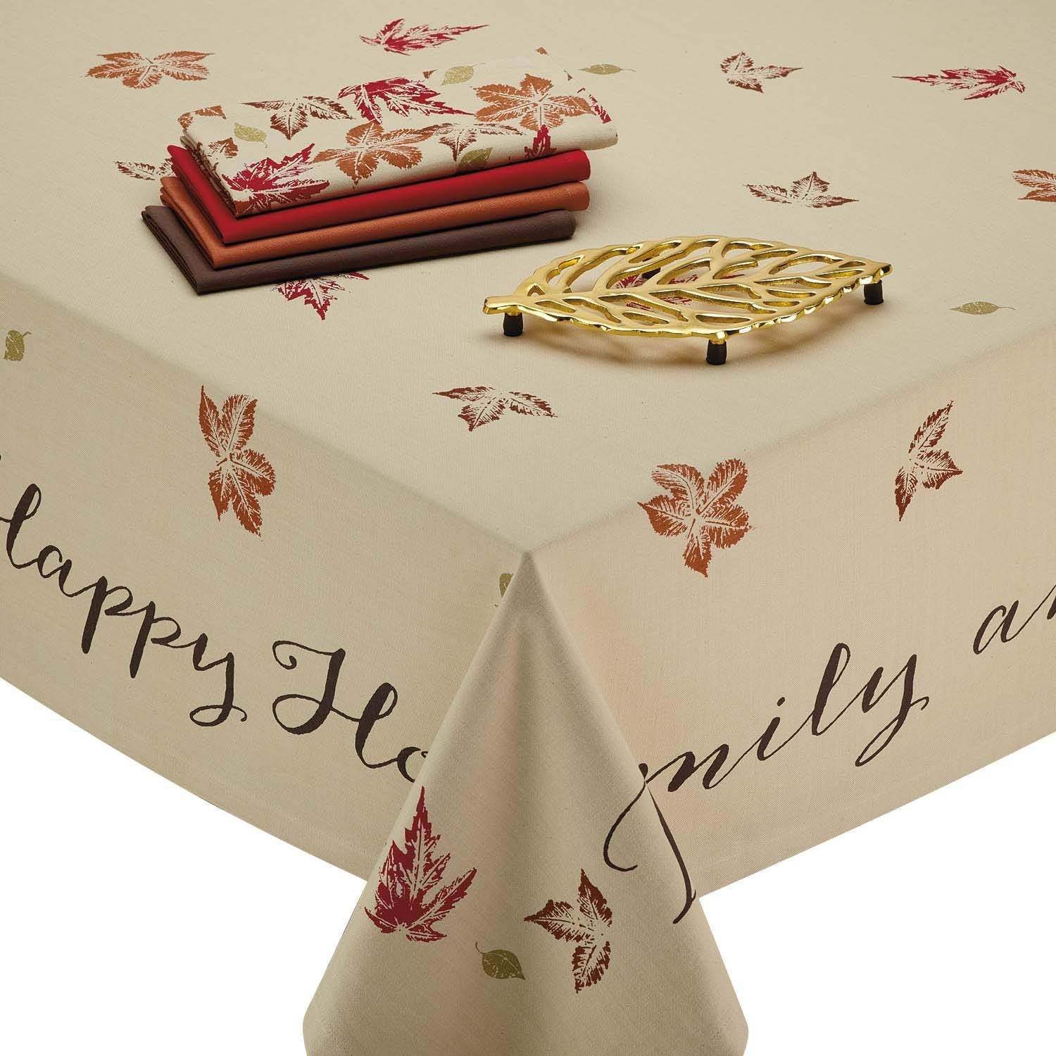 Happy Thanksgiving Table Cloth