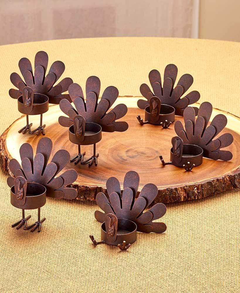 Turkey Tea Light Candle holders