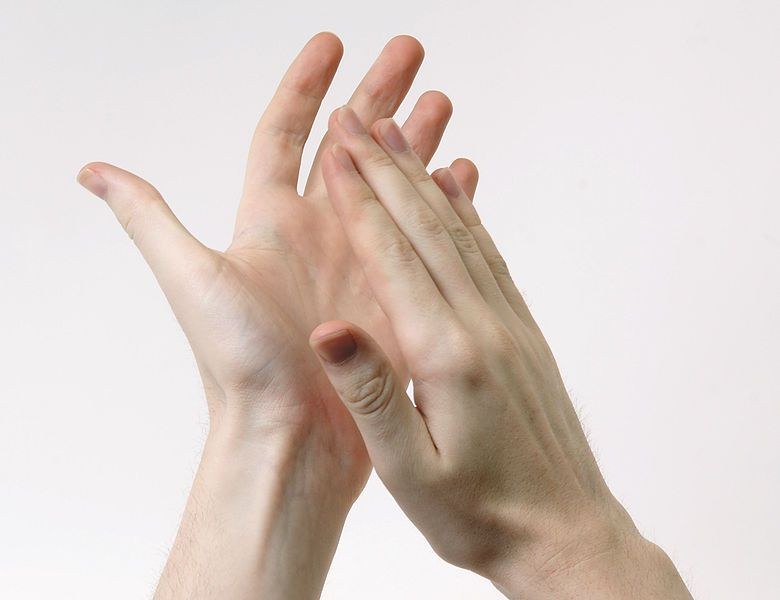 A pair of hands clapping