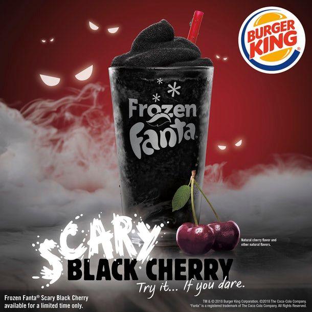 Burger King Frozen Fanta Scary Black Cherry Slushie