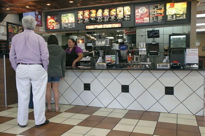 Inside a McDonald's