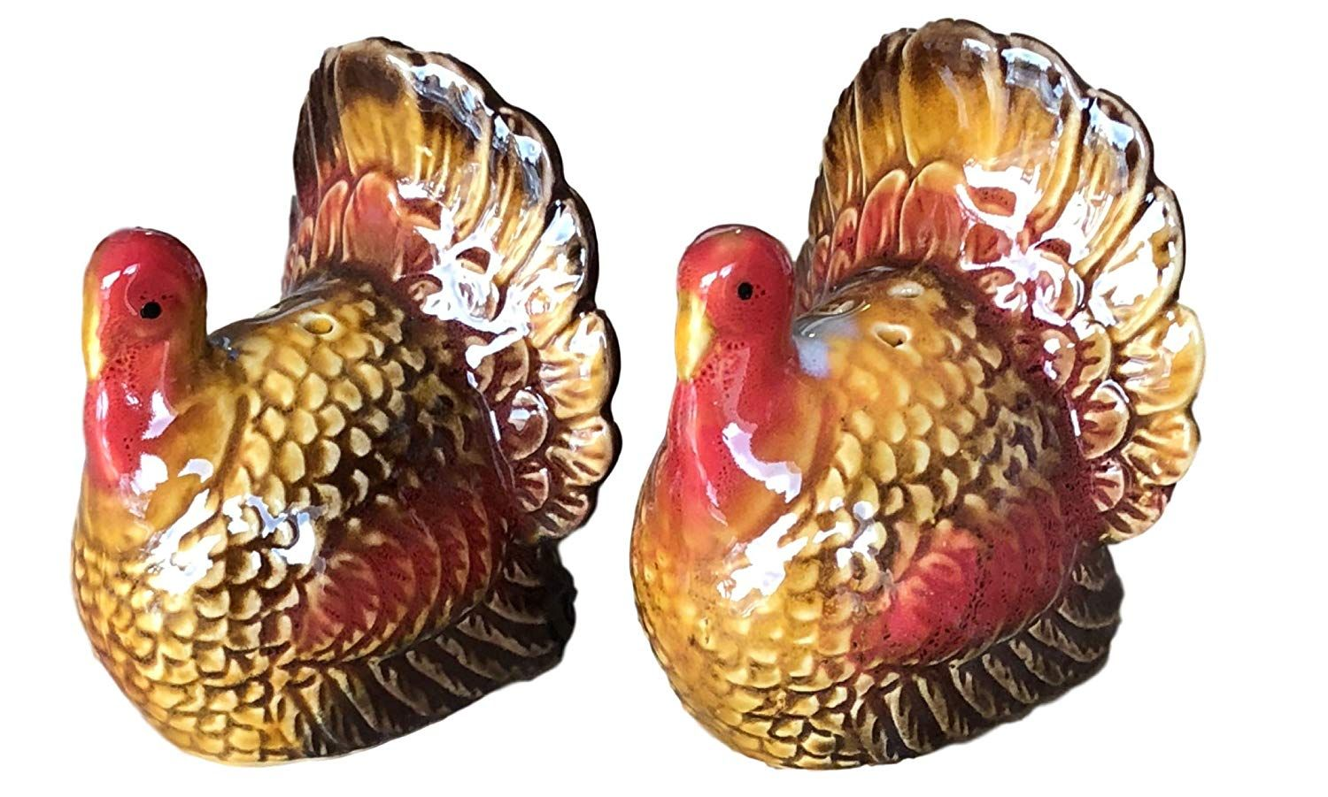 Ceramic Turkey Salt and Pepper Shakers