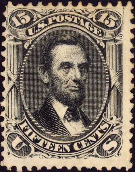 Abraham Lincoln 1867 stamp