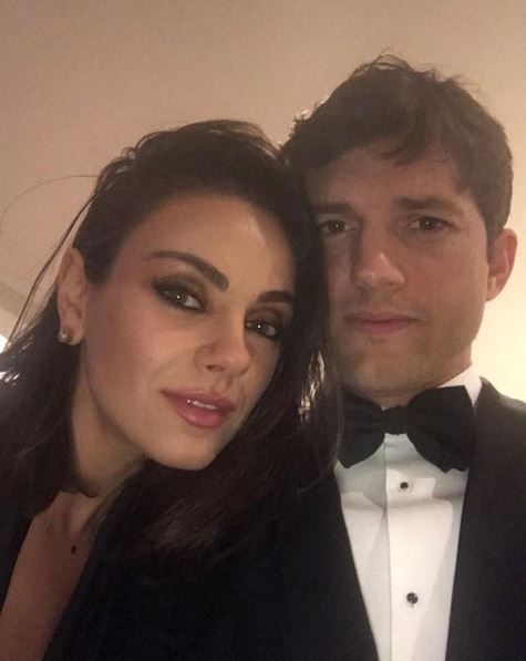 Ashton Kutcher and his wife Mila Kunis
