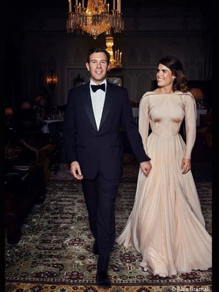 Eugenie and Jack at their wedding dinner