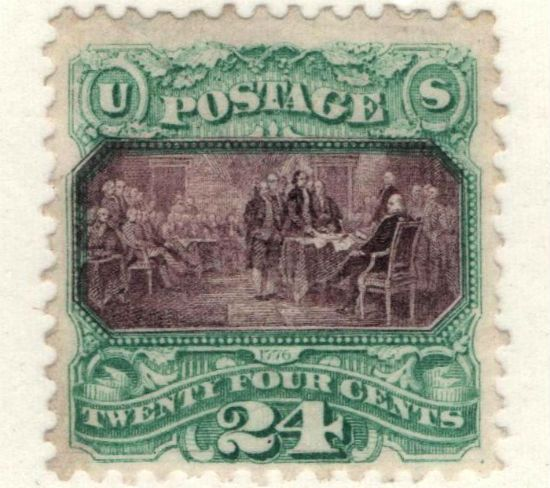 Declaration of Independence 1869 stamp