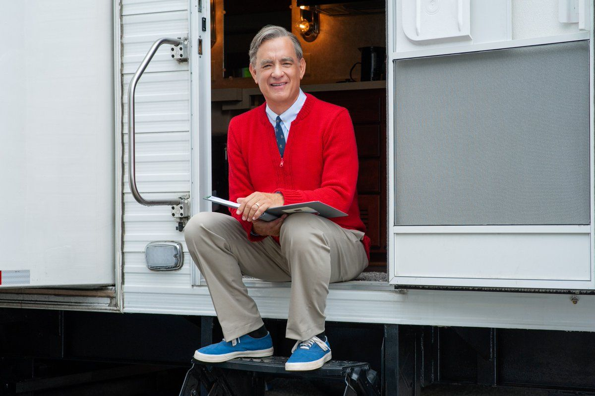 Tom Hanks stars as Mister Rogers in the untitled film.